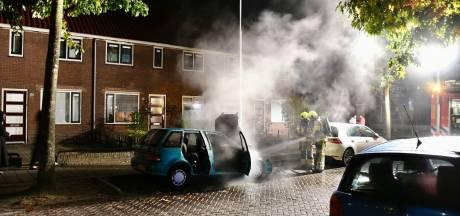 Geparkeerde auto brandt uit in Biezenstraat