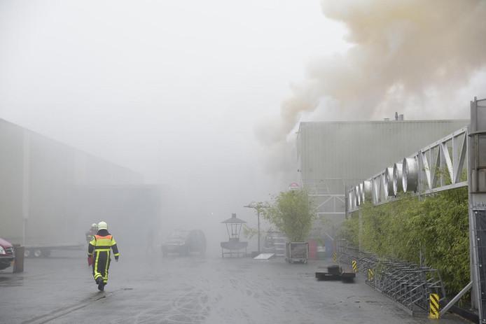 Grote brand aan de Liniestraat in Breda.
