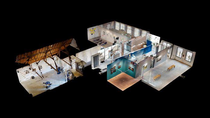 Via een 3D-scan zijn alle zalen van het Vincent van GoghHuis in Zundert te bezoeken