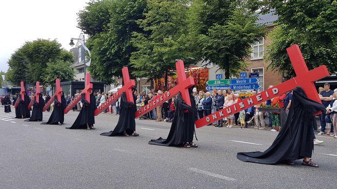 De Heilig Bloedprocessie in Hoogstraten.