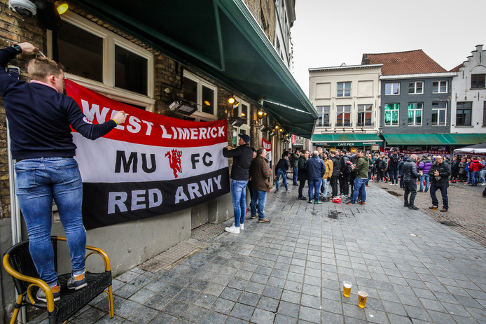 Manchester supporters in Brugge