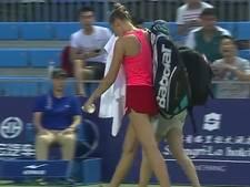 Kristyna Pliskova blesseert zich aan ventilator en moet opgeven