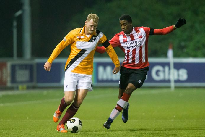 Suently Alberto als speler van Jong PSV.