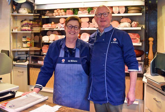 """Veerle Willemsen-De Smit en Alfred Philippi stoppen met slagerij De Milliano. ,,Er blijft toekomst voor de ambachtelijke slager."""""""