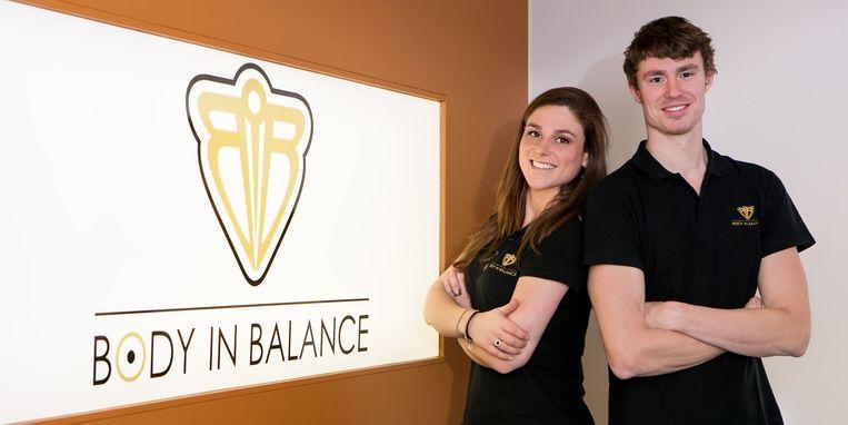 Ilse en Alex Vanmaelsaeke in het filiaal in Wervik.
