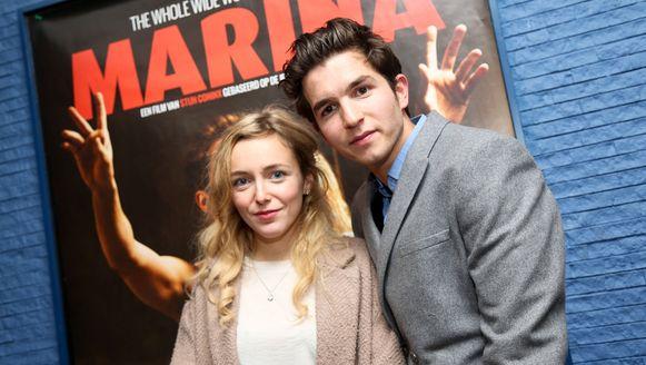 Evelien Bosmans en Matteo Simoni, de hoofdrolspelers uit 'Marina'.