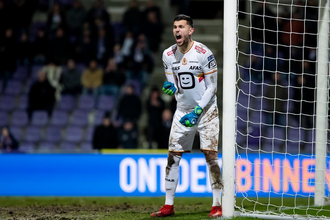 Michael Verrips in actie voor KV Mechelen.