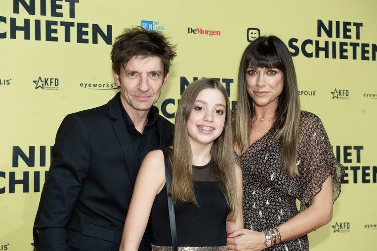 Zita en haar ouders: Koen Wauters en Valerie De Booser.