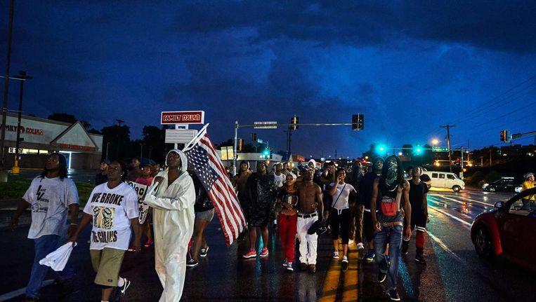 Protestmars voor Michael Brown in Ferguson Beeld afp