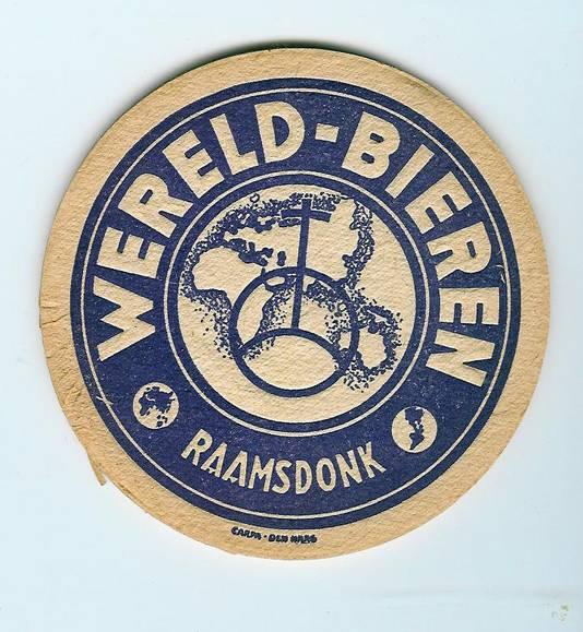 Een bierviltje van Brouwerij De Wereld.