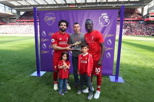 Salah en Mané winnen beiden de gouden schoen.