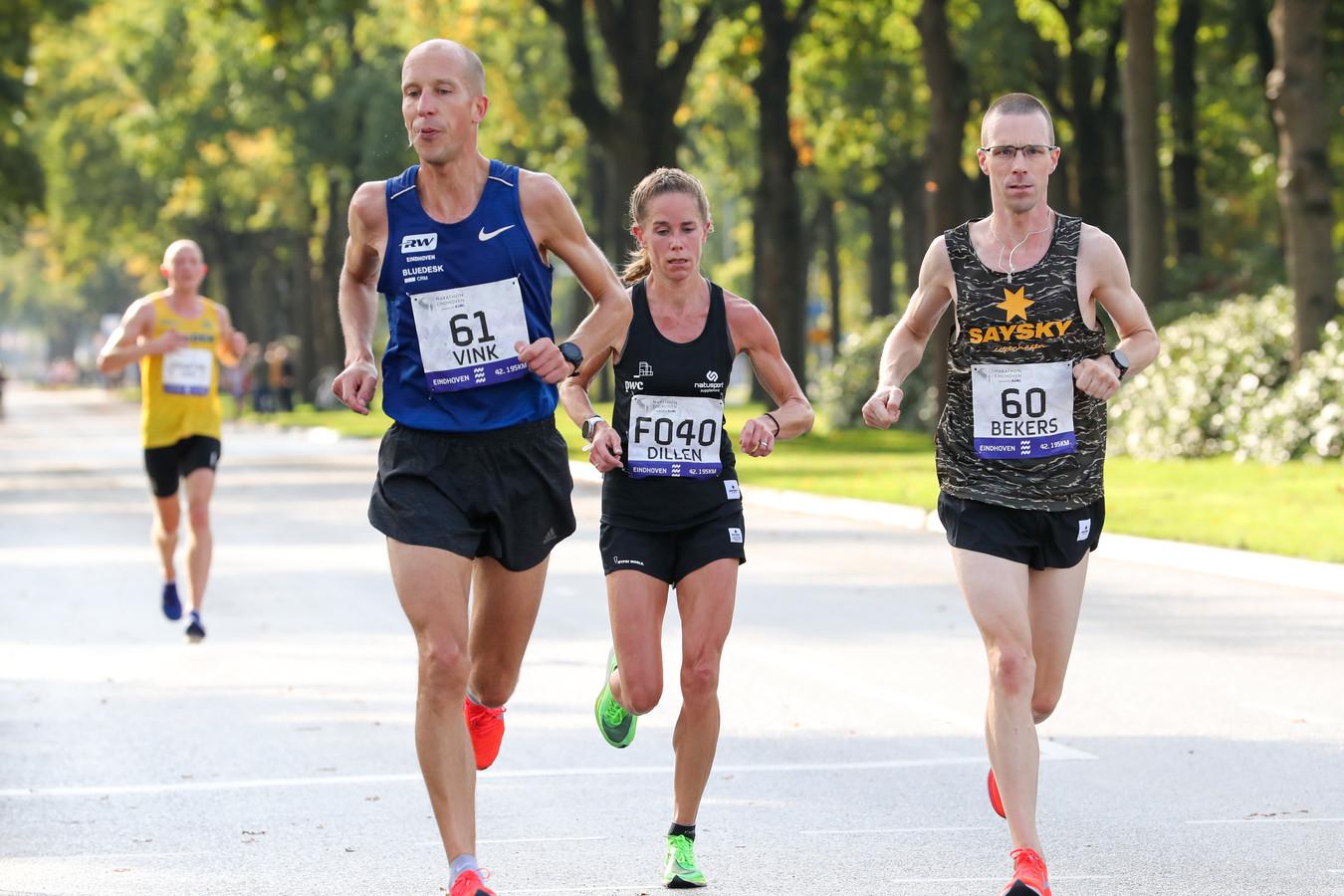 Kim Dillen stapte na 30 kilometer uit.