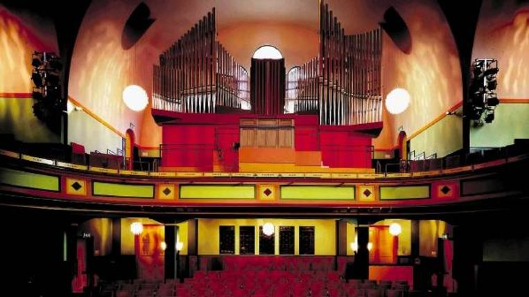Het Verschueren-orgel, gebouwd naar de ideeën van de Fransman Aristide Cavaillé-Coll: Een orgel moet kunnen klinken als een orkest. (Trouw) Beeld
