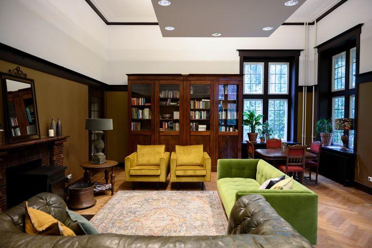 De woonkamer in het retraitegedeelte Beeld Bram Petraeus