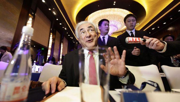 DSK op de conferentie in Peking. Beeld reuters