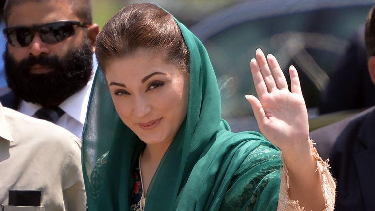 Maryam Nawaz Sharif zal voorlopig even geen Calibri meer gebruiken. Beeld AFP