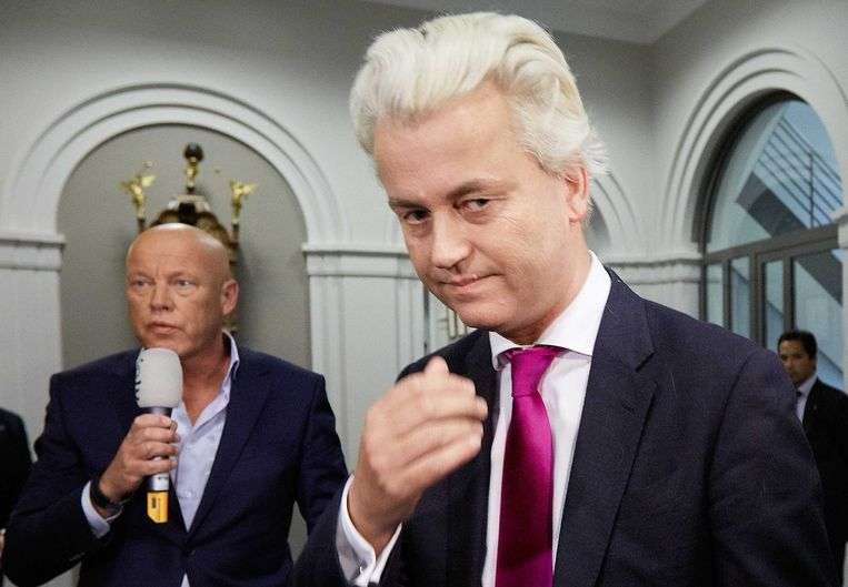 Frits Wester en Geert Wilders. Beeld anp