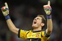 De reactie van Casillas na het laatste fluitsignaal van de EK-finale in 2012.