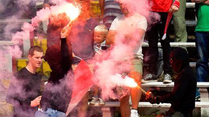 Vrouw gewond door Bengaals vuur tijdens Antwerp-Club Brugge