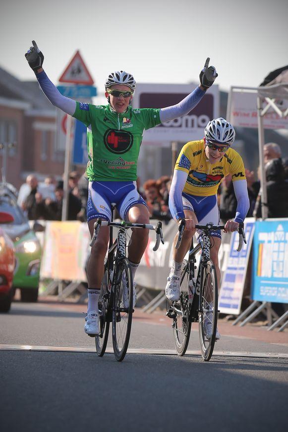 Mads Pedersen (in het groen) won in 2013 de slotrit van de Ster van Zuid-Limburg.