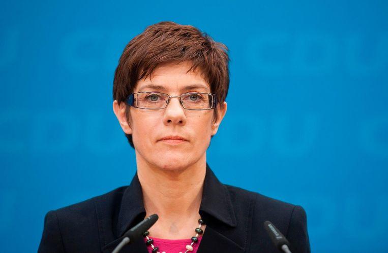 Premier Annegret Kramp-Karrenbauer van Saarland Beeld afp