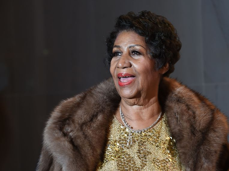 Aretha Franklin tijdens de 38ste Kennedy Center Honors in Washington, DC in 2015.