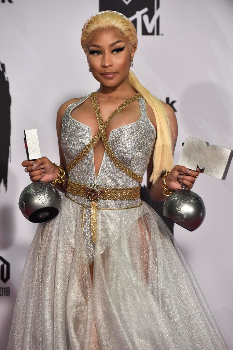 Nicki Minaj met haar awards.