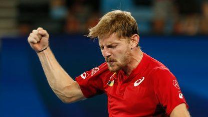 Belgen kloppen Bulgarije op ATP Cup nadat Goffin zijn 'zwart beest' vloert en ook dubbelspecialisten zich naar winst knokken