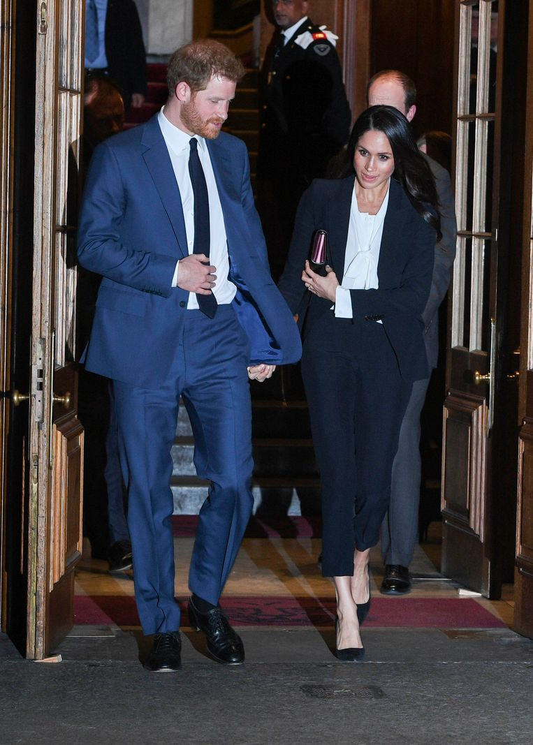 Meghan Markle en prins Harry bij de Endeavour Fund Awards