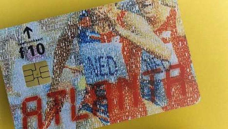 Een oude telefoonkaart Beeld Lex Boon