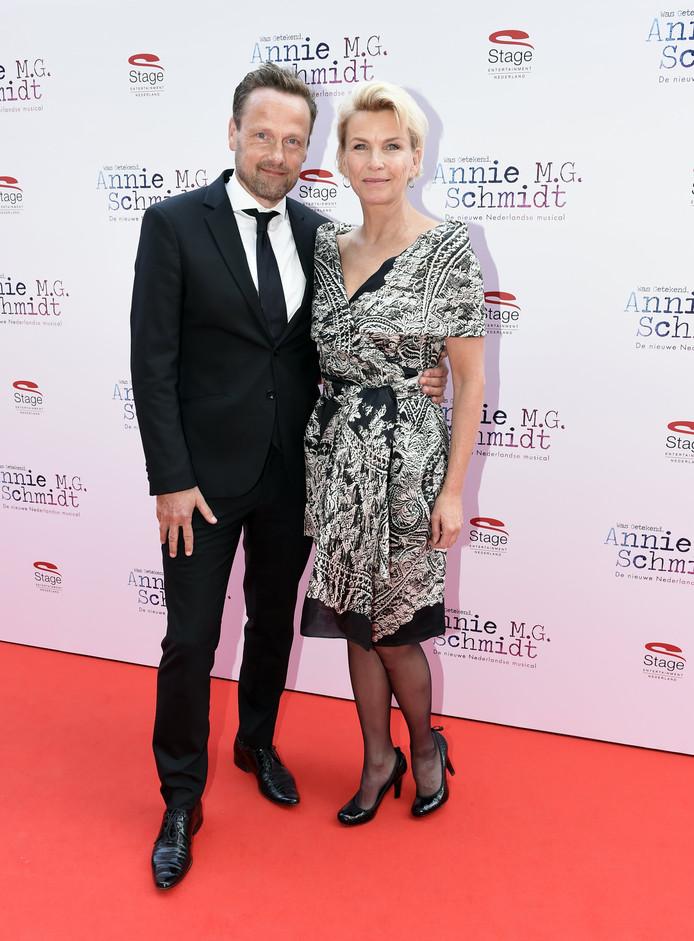 Anita Witzier met haar man Michel Nilissen.