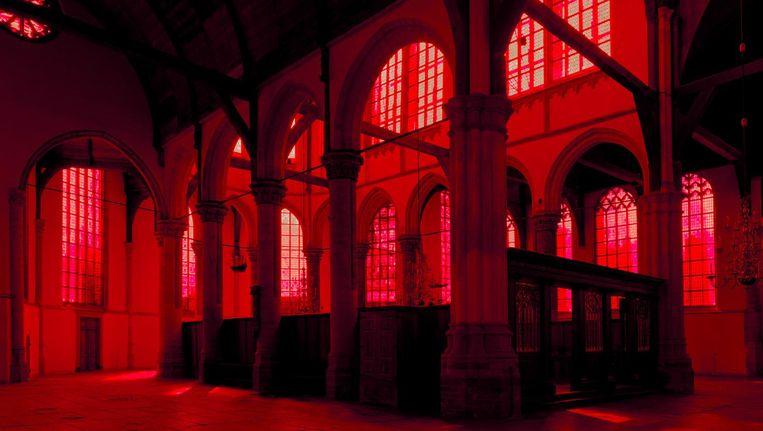 Giorgio Andreotta Calò: 'Voor mij was het belangrijk om te werken met een element dat in de structuur van de kerk zat. Dat was het licht.' Beeld Gert-Jan van Rooij