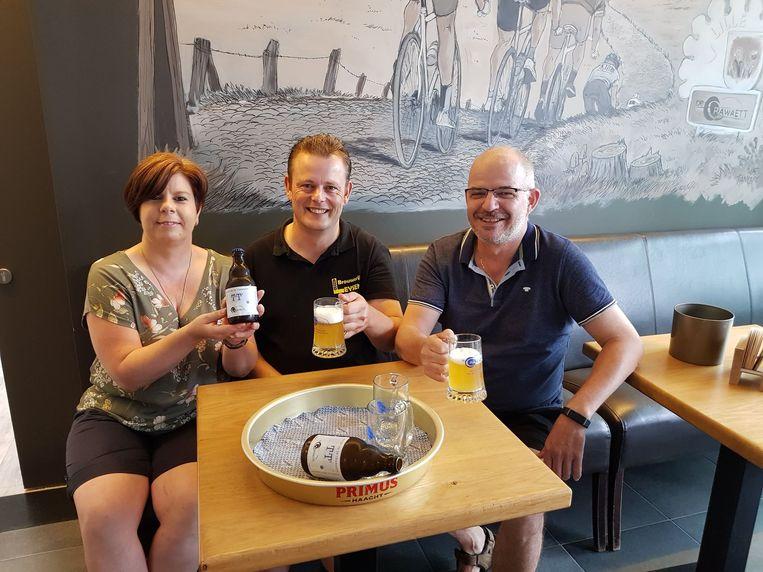 Nadine Daems, Jorge Leysen en Peter Van Glabbeek.