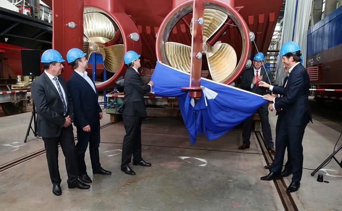 Damen Shipyards Group duikt de rode cijfers in, maar blijft investeren in nieuwe ontwikkelingen. Zoals bijvoorbeeld een 3D-geprinte scheepsschroef die eind 2017 werd gepresenteerd.