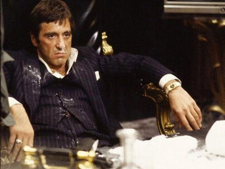 Al Pacino als Tony Montana in 'Scarface' uit 1983