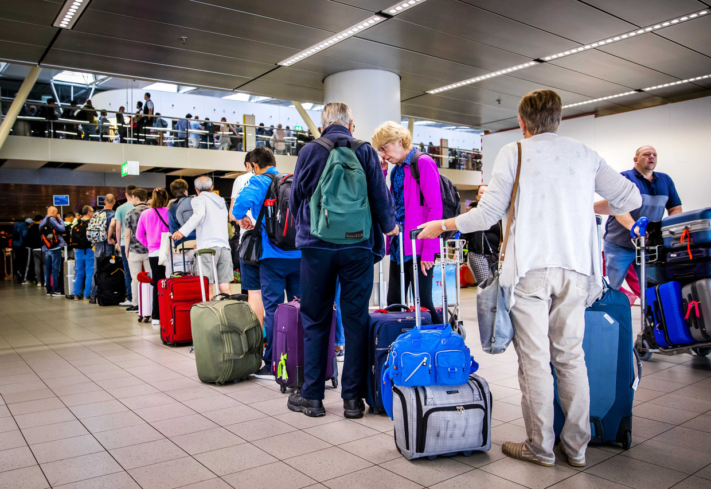 Ondanks onze vliegschaamte pakten we toch massaal het vliegtuig naar de vakantiebestemming.
