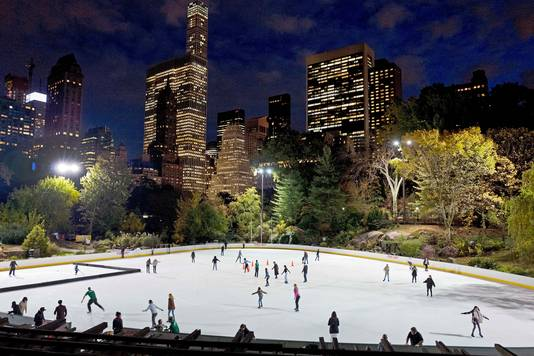 De ijsbaan van Trump in Central Park, de gemeente wil geen enkele relatie meer met de president.