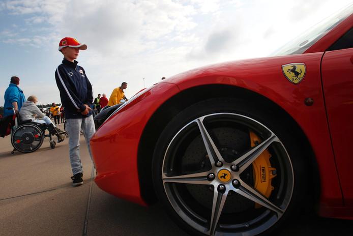 Wessel Sprenkels uit Geldrop op de 'Ferrari-dag' in 2014.