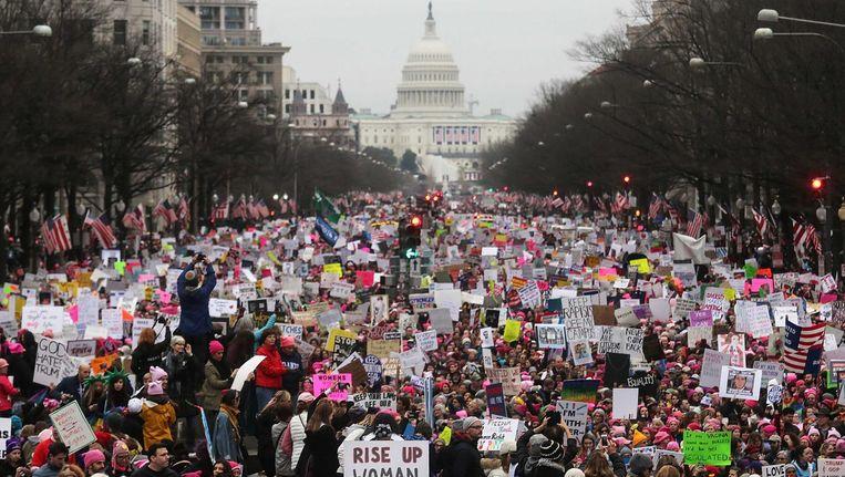 De Womens March on Washington in januari 2017. Beeld afp