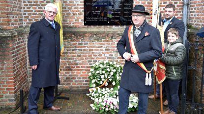 Gedenkplaat voor acht Vlimmerse oorlogsslachtoffers
