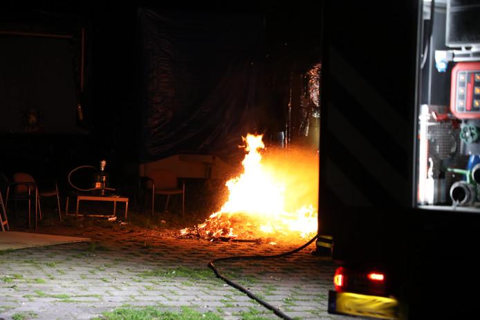 Tieners veroorzaken brand bij leegstaand pand in Kaatsheuvel.
