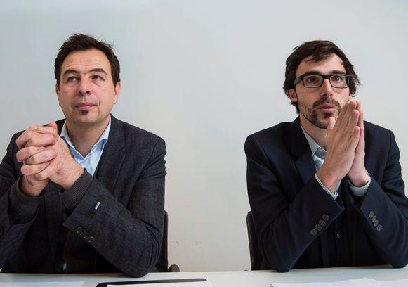 """Vlaamse oppositiepartij Groen wil niet wachten op Europese richtlijnen. """"Onderzoek bewijst dat vervuiling van fijn stof corona-infecties verzwaart"""", aldus Johan Danen, parlementslid bij Groen, hier links op de foto."""