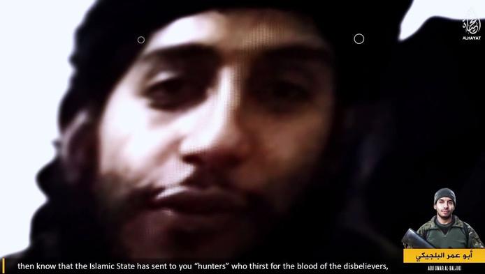 Abdelhamid Abaaoud in de video.