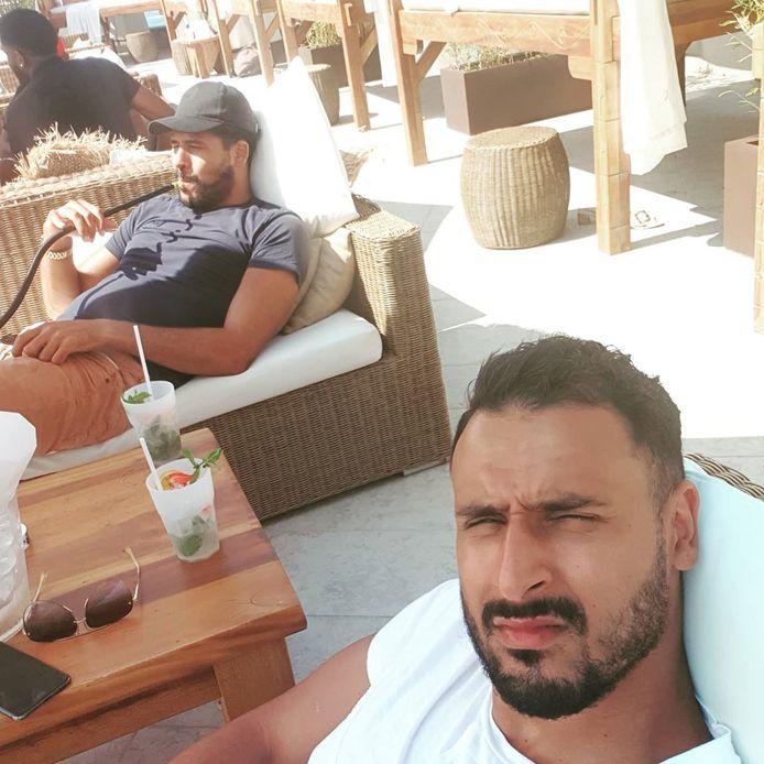 Nacer Chadli op Nikki Beach in Monte Carlo.