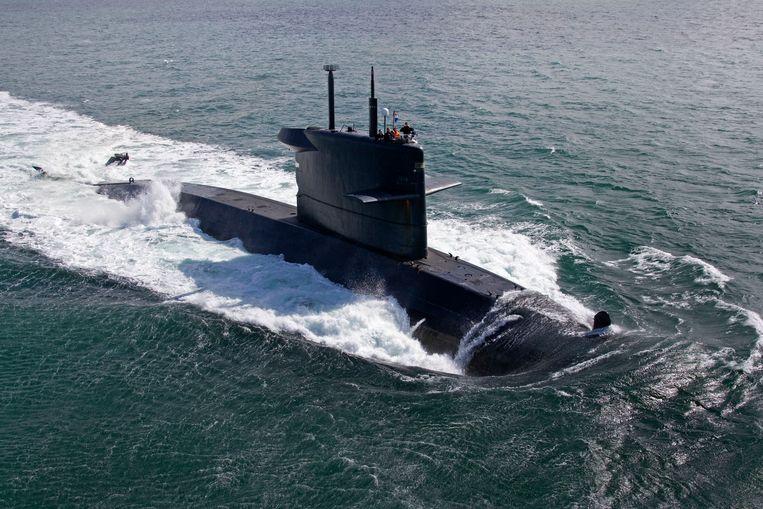 Drie militairen van onderzeeboot Dolfijn hebben een celstraf gekregen omdat ze een collega hebben geswaffeld. Beeld Ministerie van Defensie