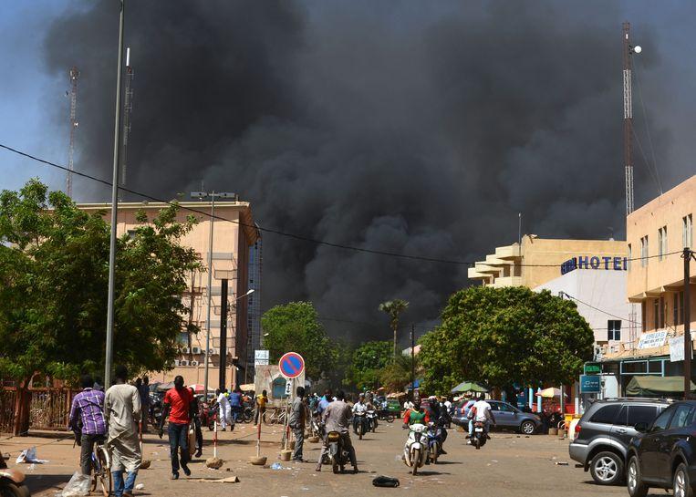 Een eerdere aanslag in Burkina Faso. Beeld AFP