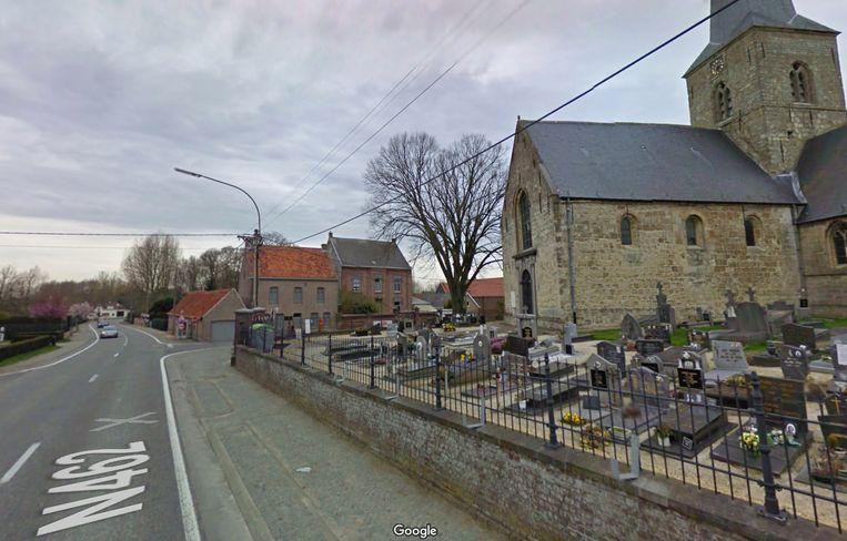 De man overleed ter hoogte van de kerk van Westrem.