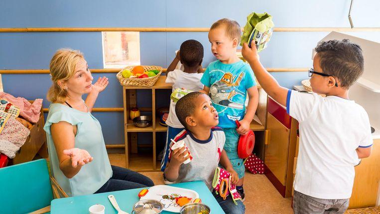 De gratis peuterspeelzalen worden commerciële kinderopvangorganisaties Beeld anp