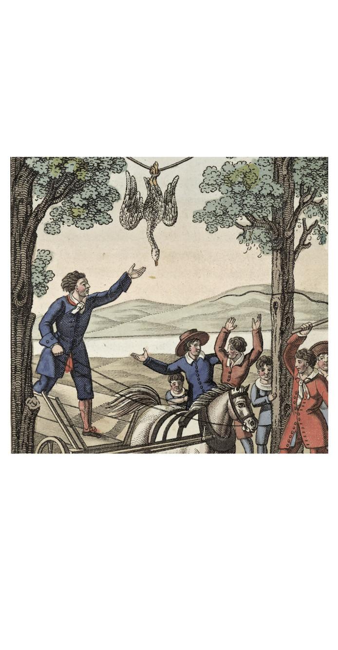 Gansrijden of ganstrekken, Vastenavondgebruik in Oss verboden in 1757.