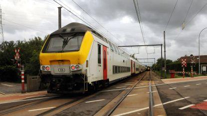 Spoorverkeer tijdlang onderbroken door geblokkeerde vrachtwagen
